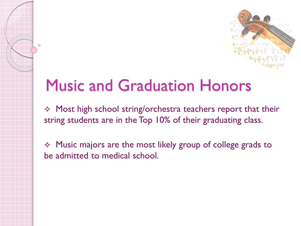 Music and Graduation Honors