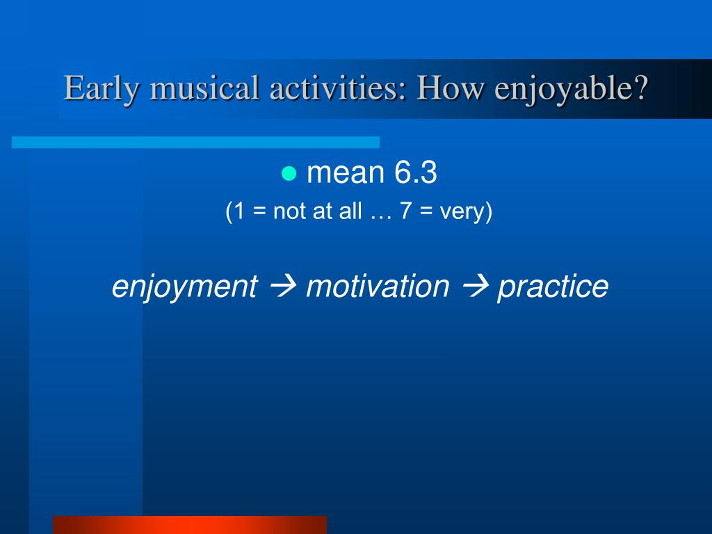 Early musical activities: How enjoyable?