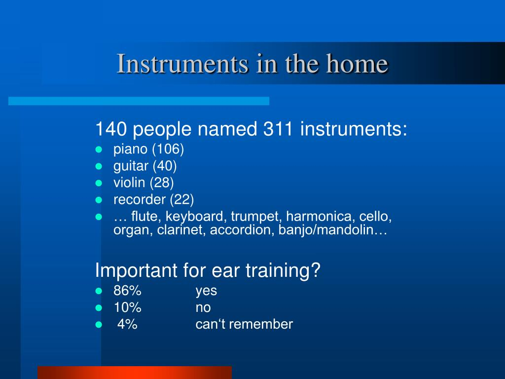 Instruments in the home