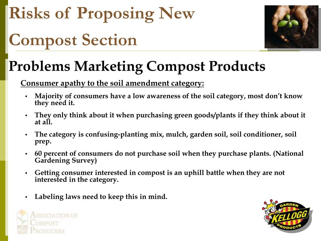 Risks of Proposing New Compost Section