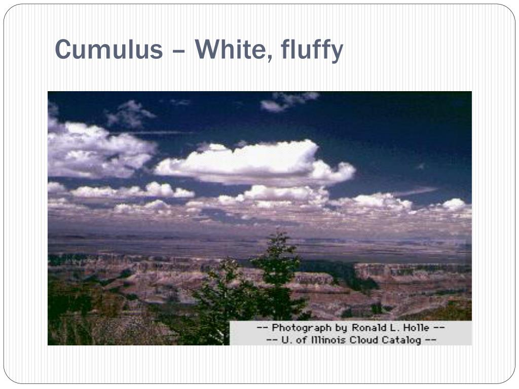 Cumulus – White, fluffy