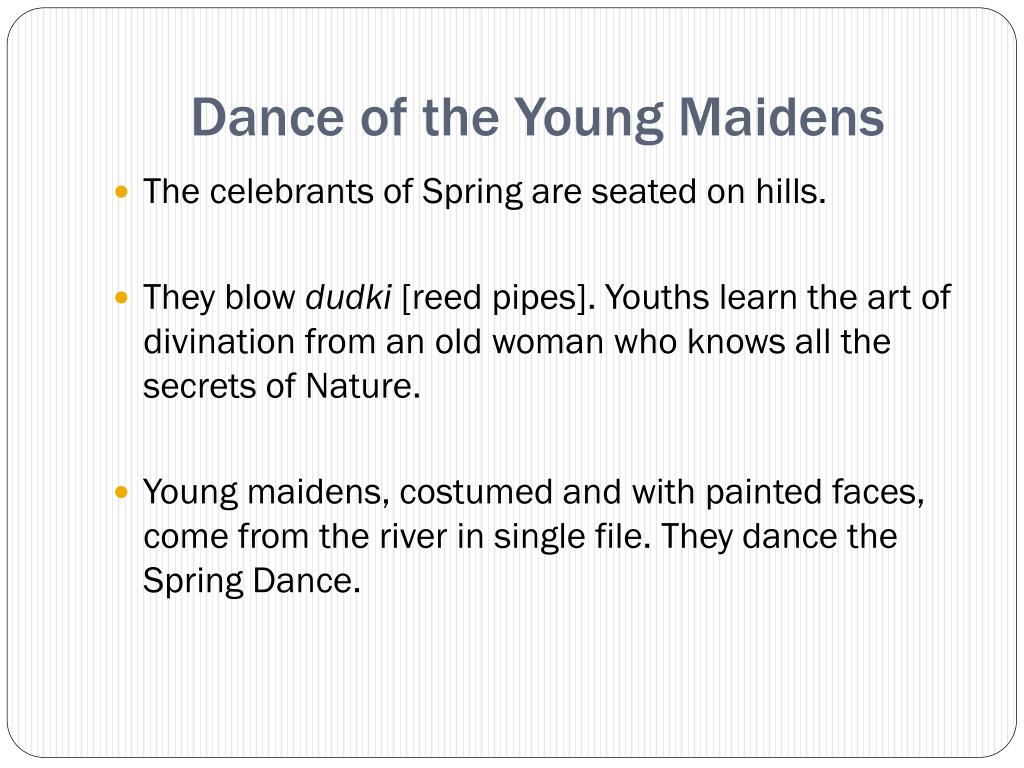 Dance of the Young Maidens