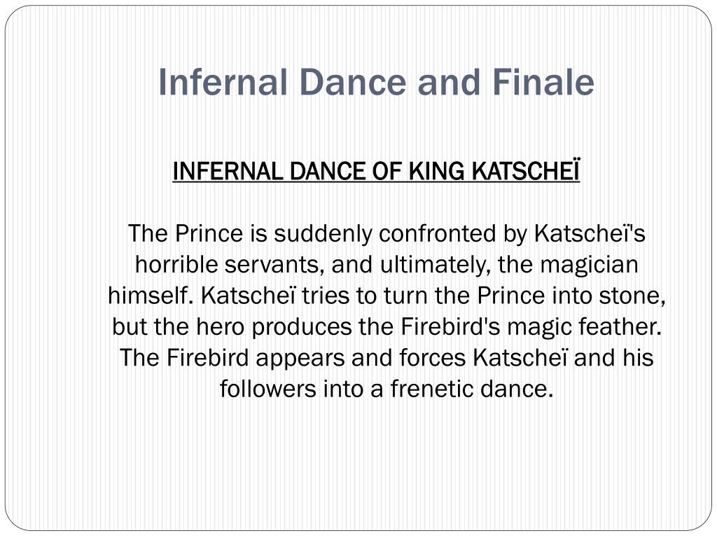 Infernal Dance and Finale