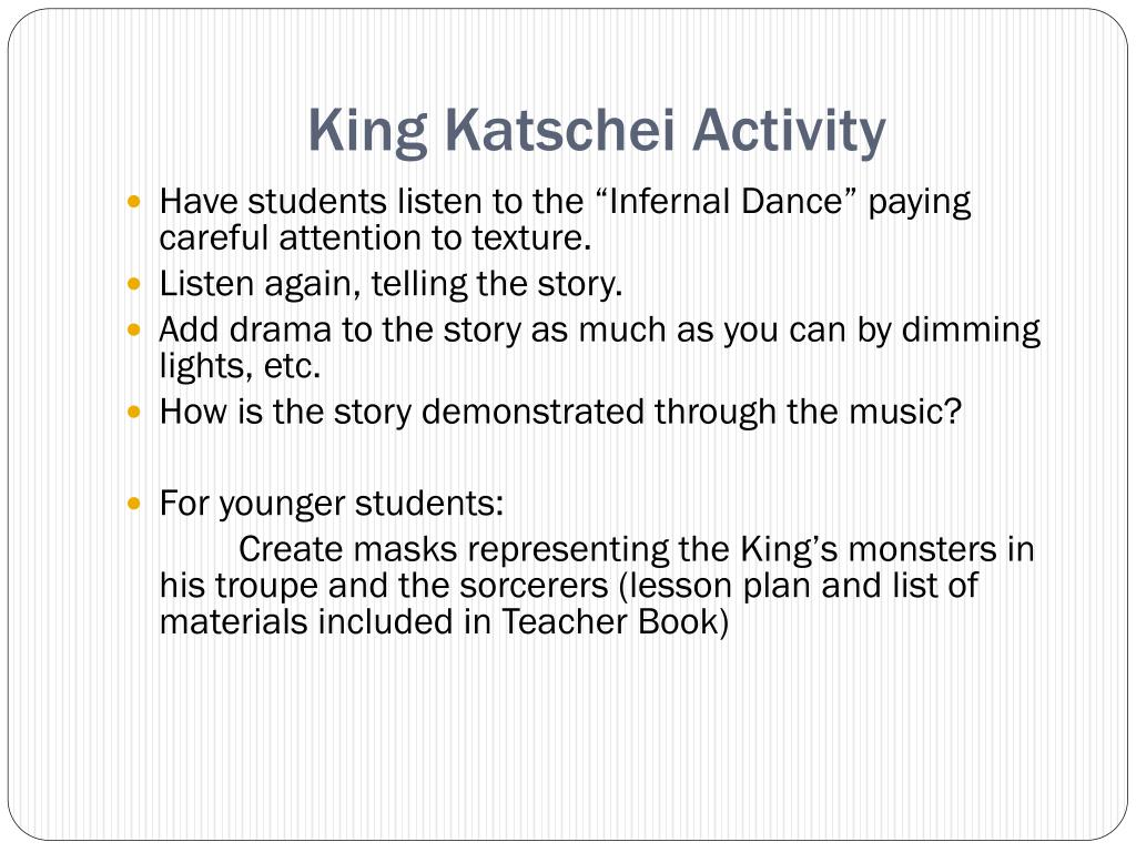 King Katschei Activity