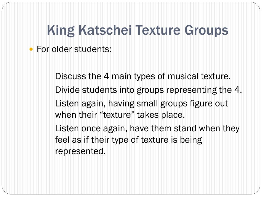 King Katschei Texture Groups