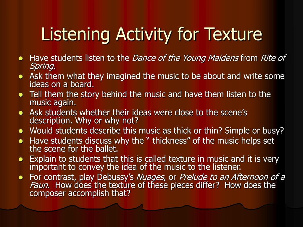 Listening Activity for Texture