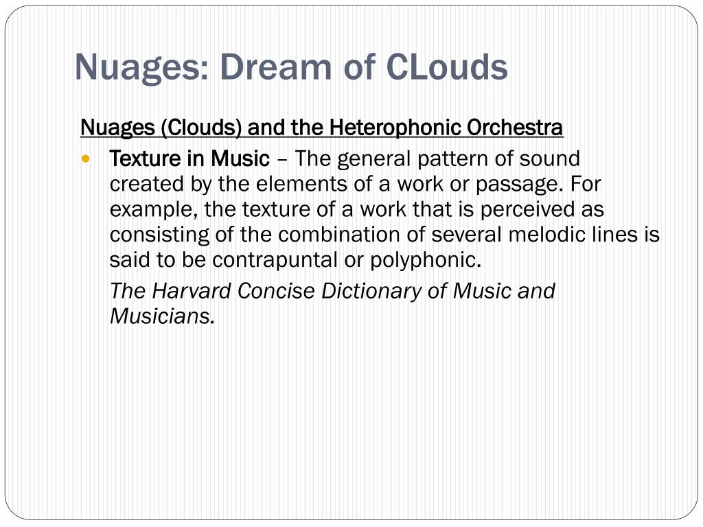 Nuages: Dream of CLouds