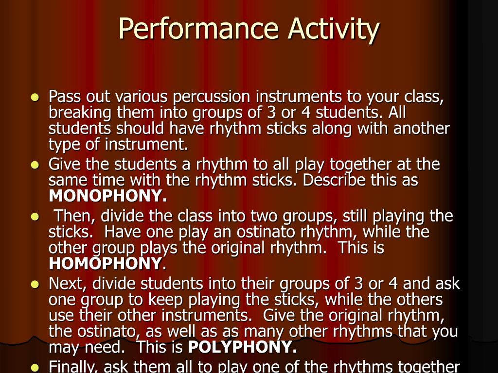 Performance Activity