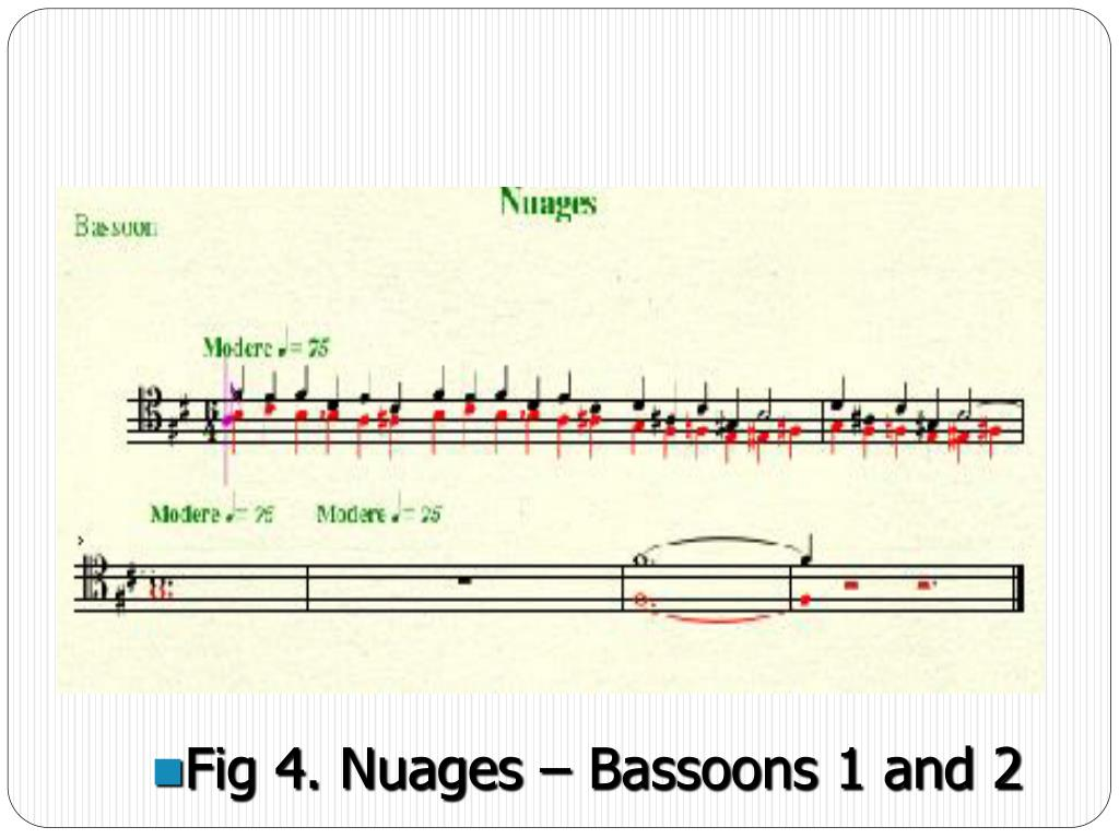 Fig 4. Nuages – Bassoons 1 and 2