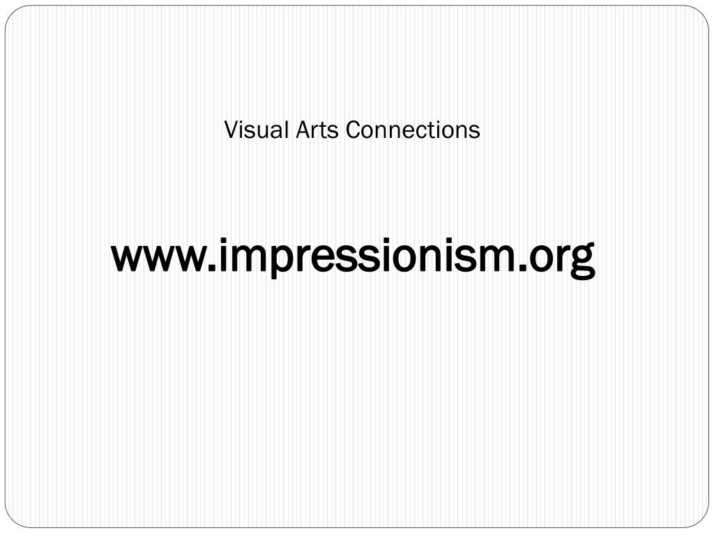 Visual Arts Connections