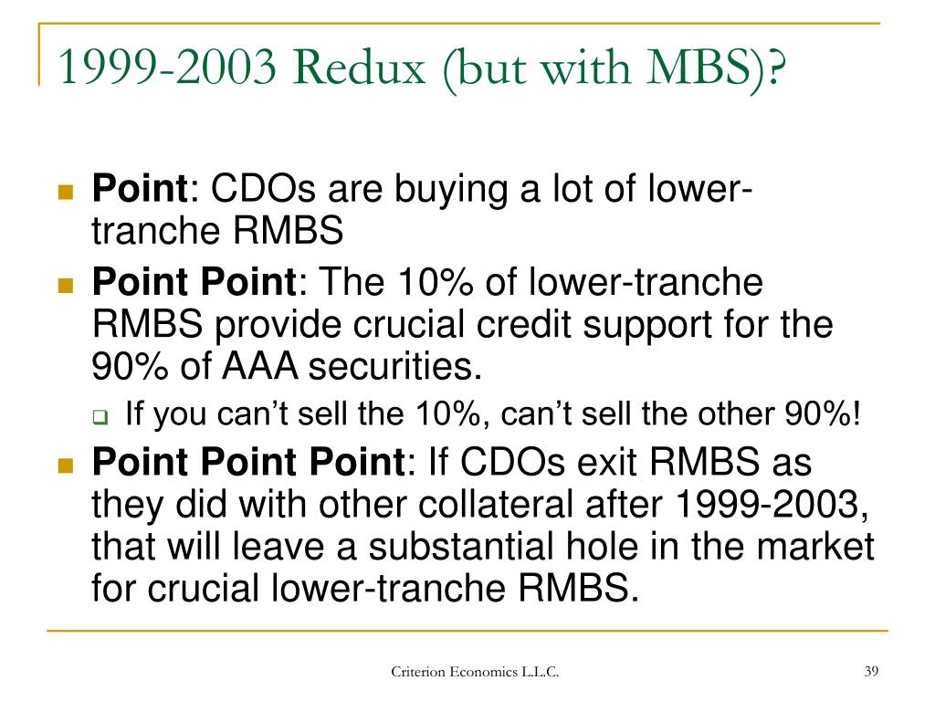 1999-2003 Redux (but with MBS)?