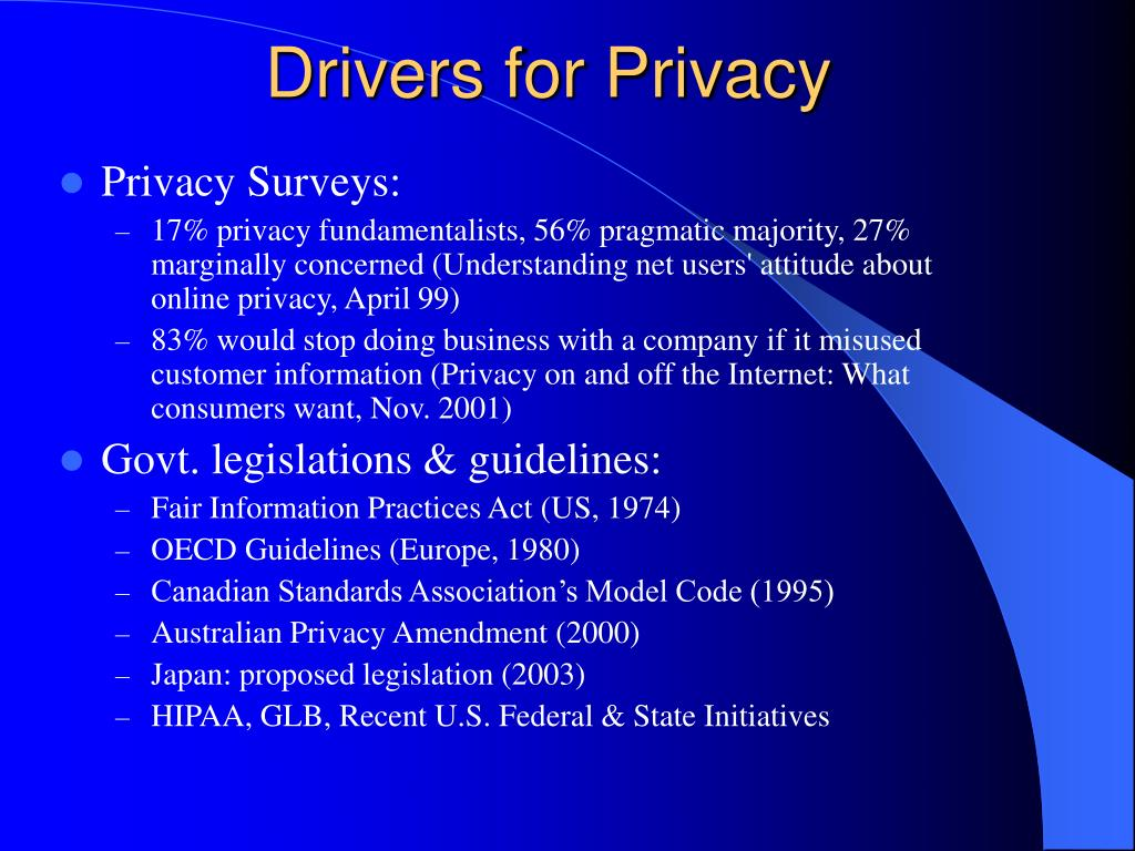 Drivers for Privacy