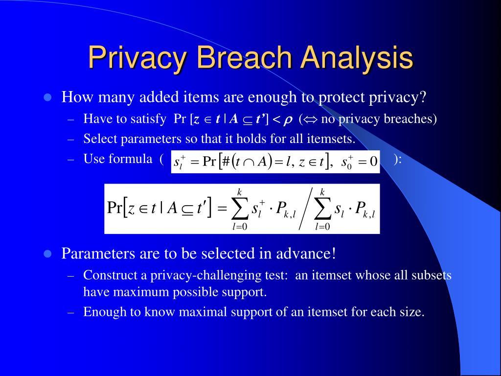 Privacy Breach Analysis