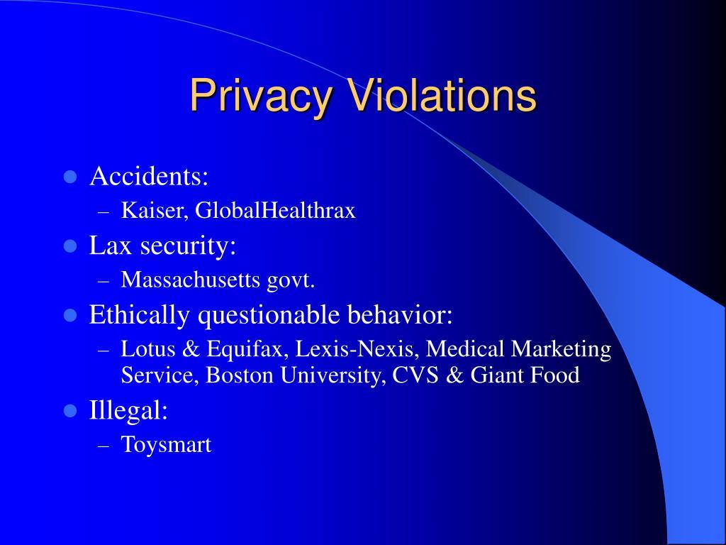 Privacy Violations