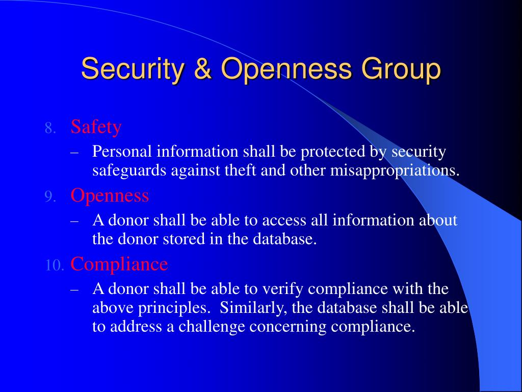 Security & Openness Group