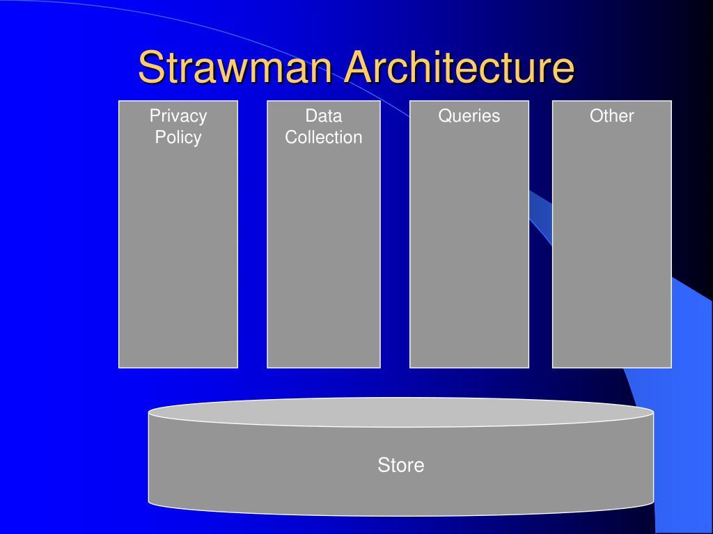 Strawman Architecture