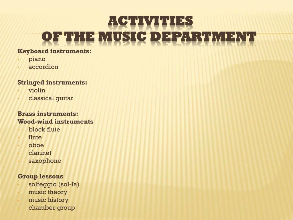 Keyboard instruments: