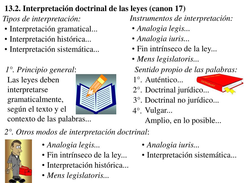 13.2. Interpretación doctrinal de las leyes (canon 17)