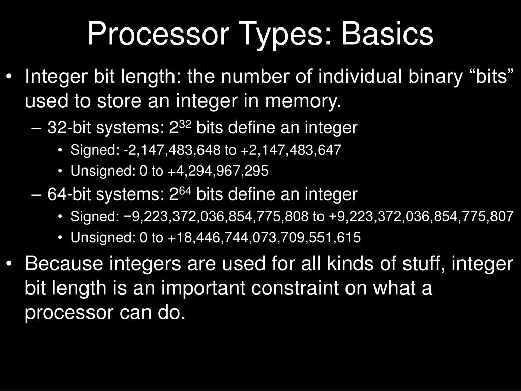 Processor Types: Basics