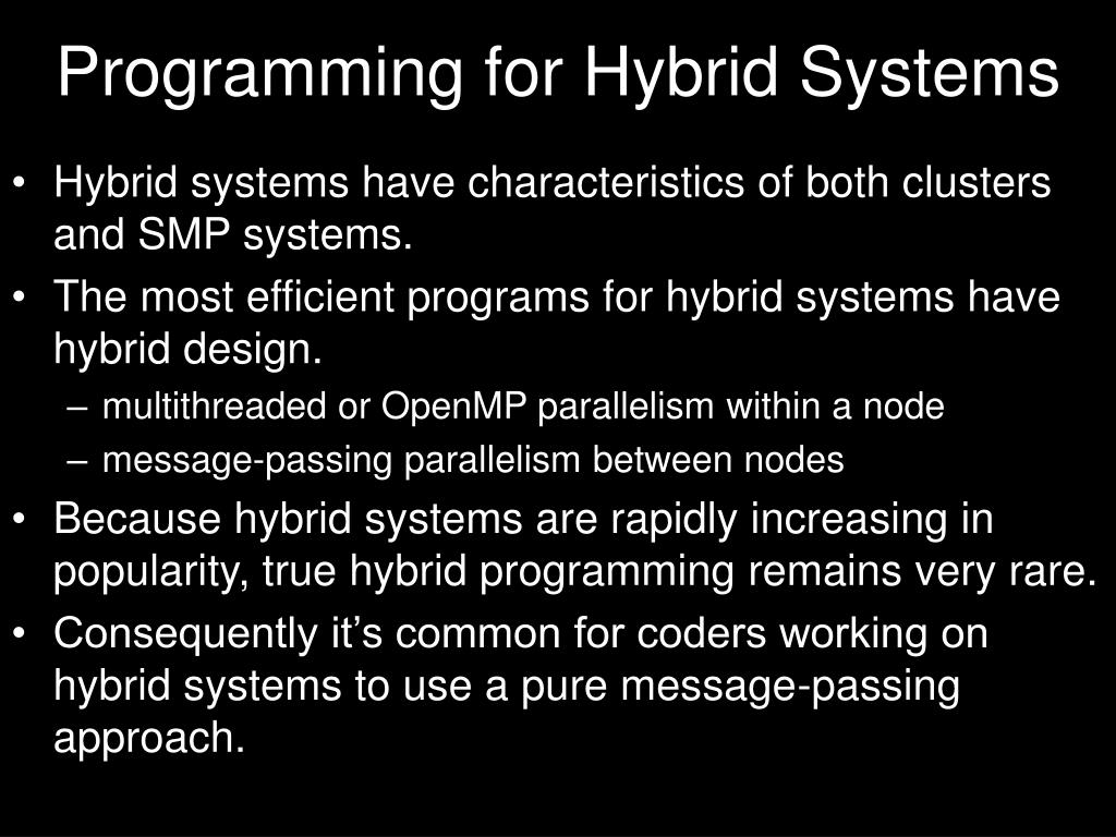 Programming for Hybrid Systems