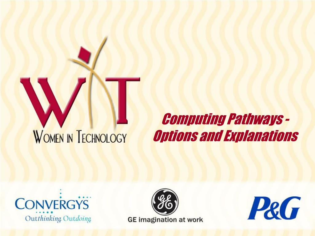 Computing Pathways - Options and Explanations