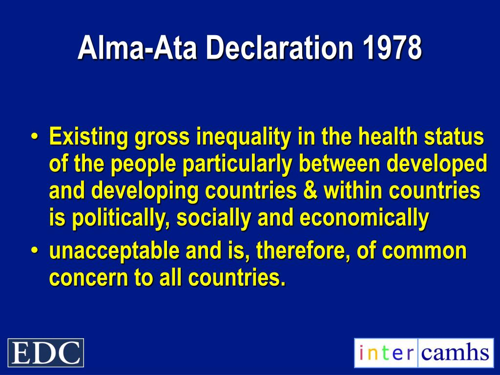 Alma-Ata Declaration 1978