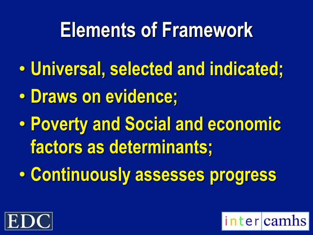 Elements of Framework