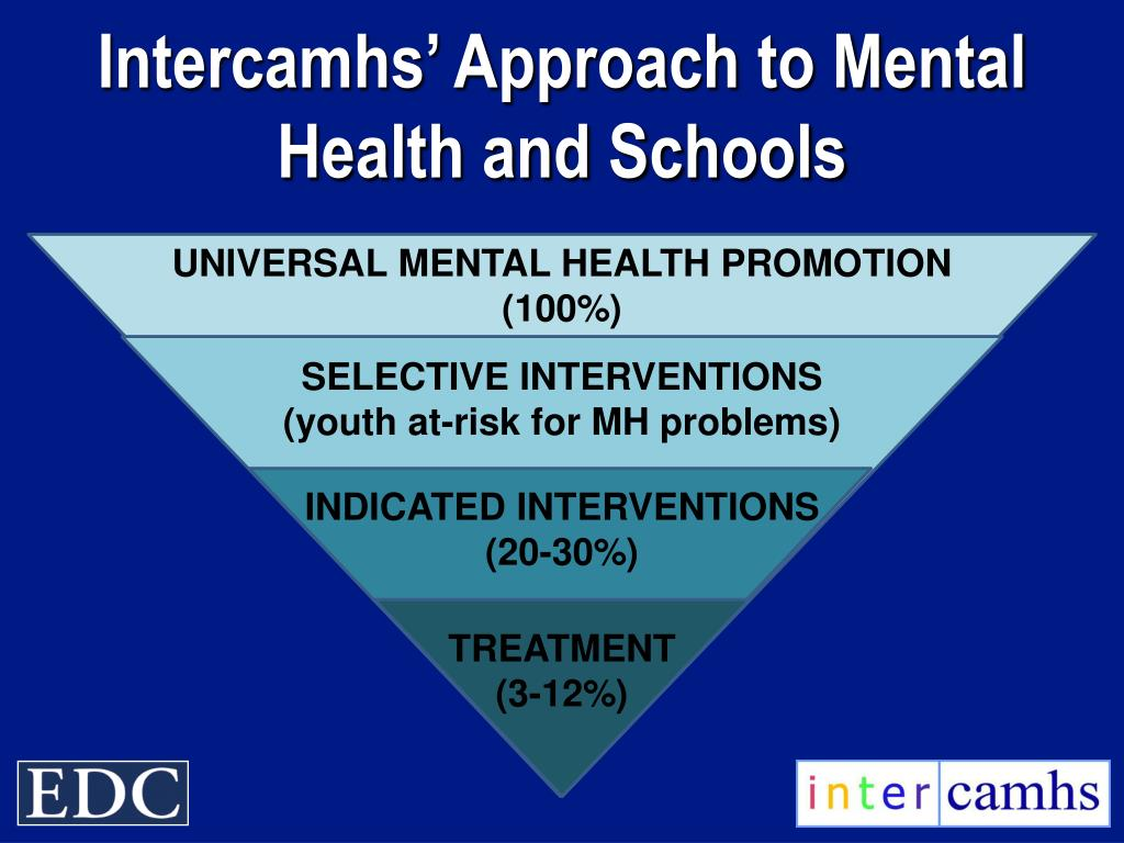 Intercamhs' Approach to Mental Health and Schools