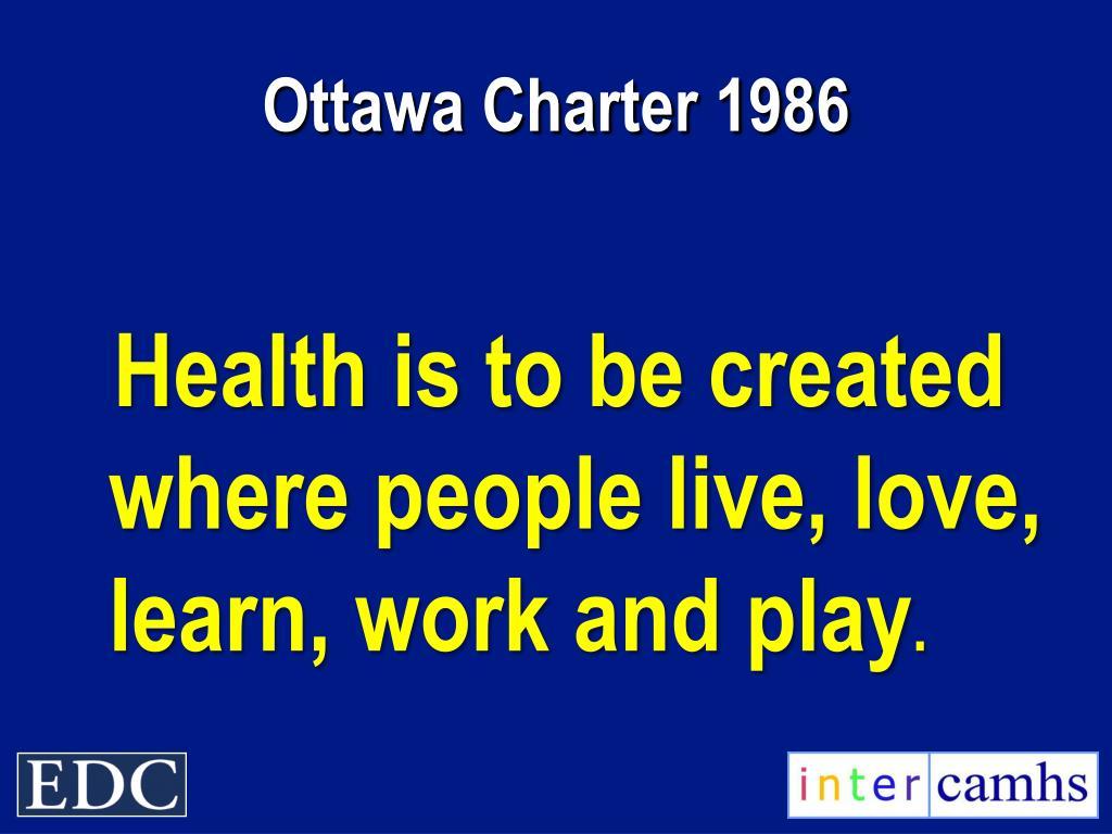 Ottawa Charter 1986