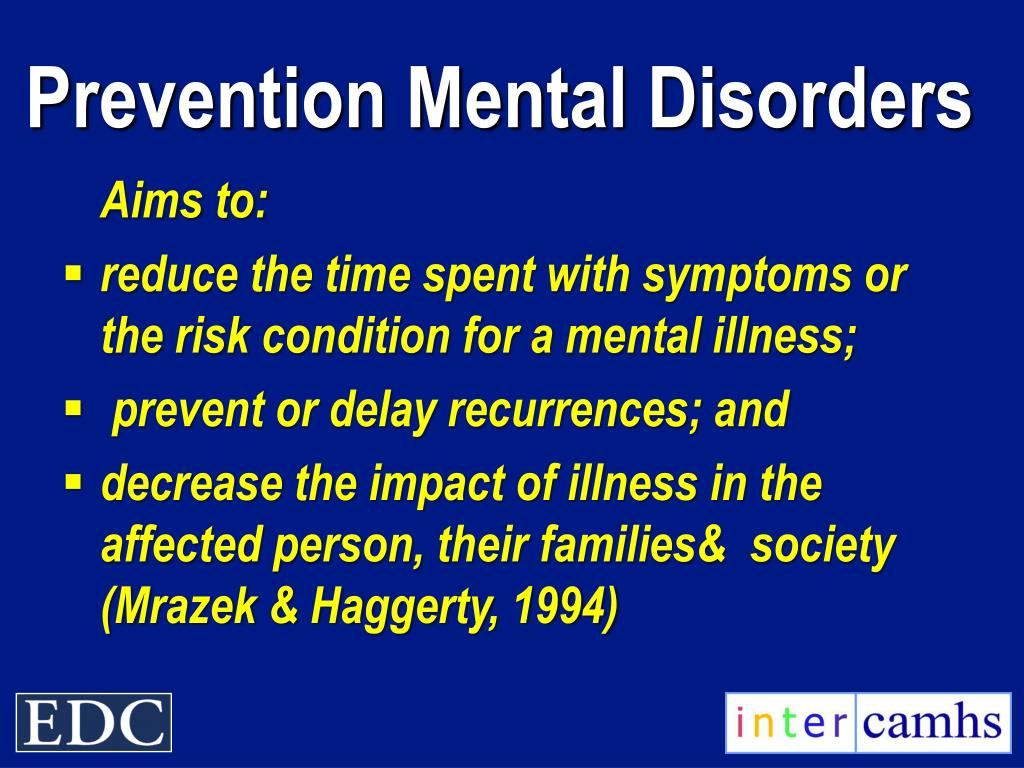 Prevention Mental Disorders