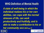 who definition of mental health
