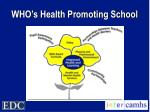 who s health promoting school