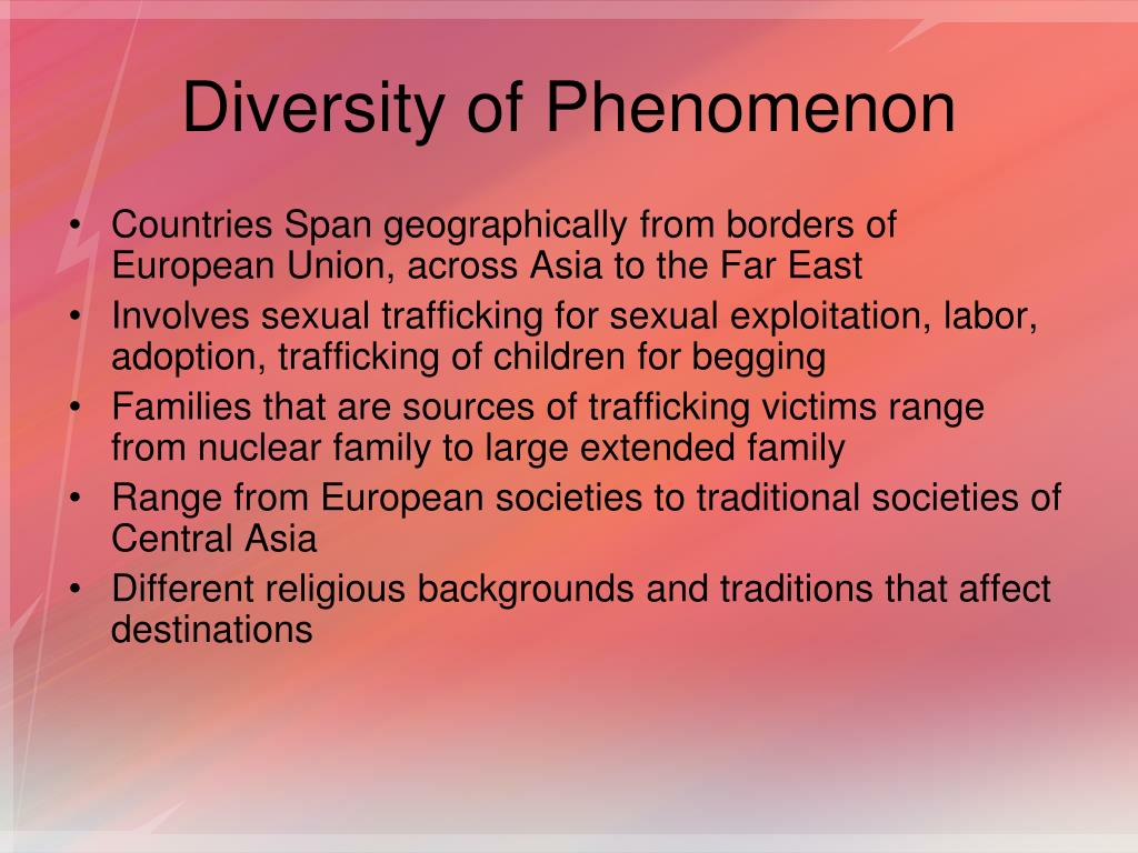 Diversity of Phenomenon