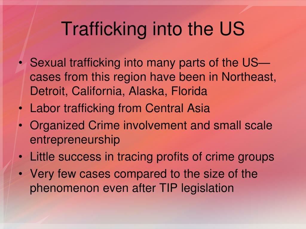 Trafficking into the US
