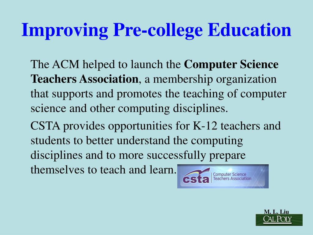 Improving Pre-college Education