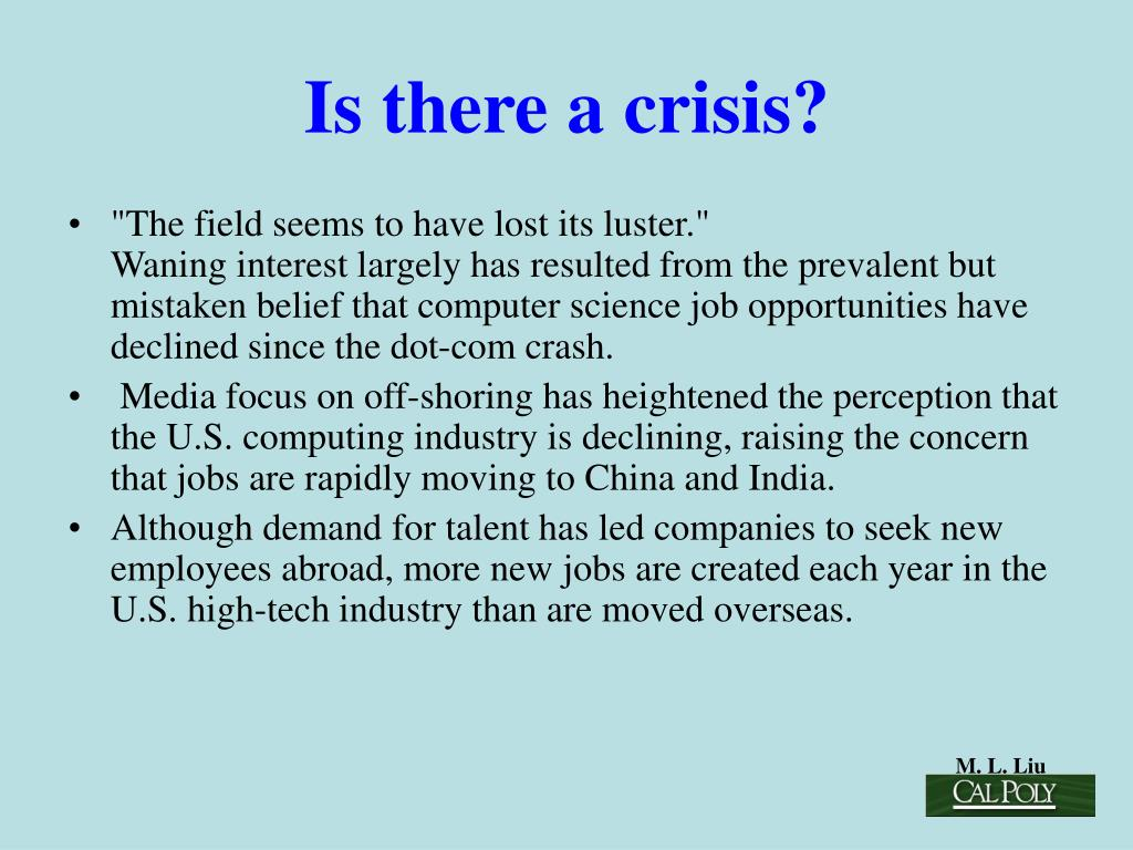 Is there a crisis?