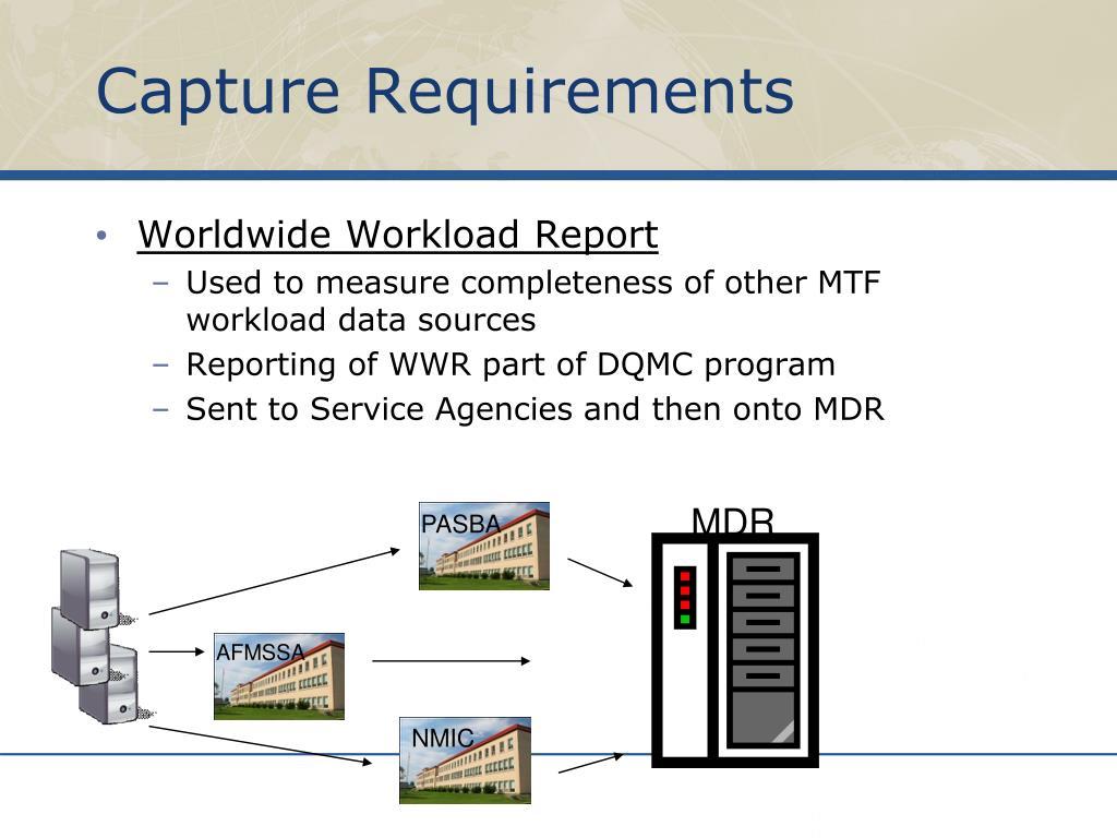 Capture Requirements