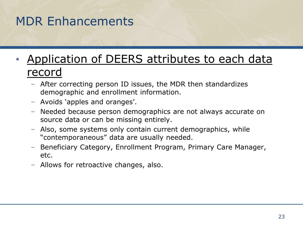 MDR Enhancements