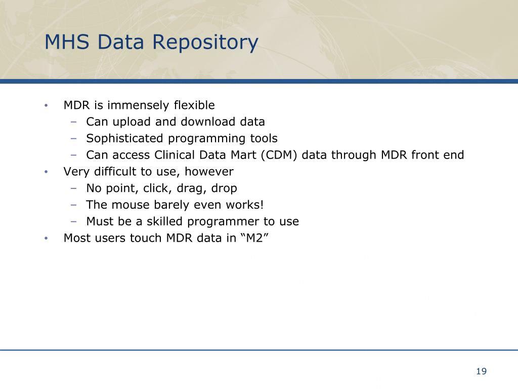 MHS Data Repository