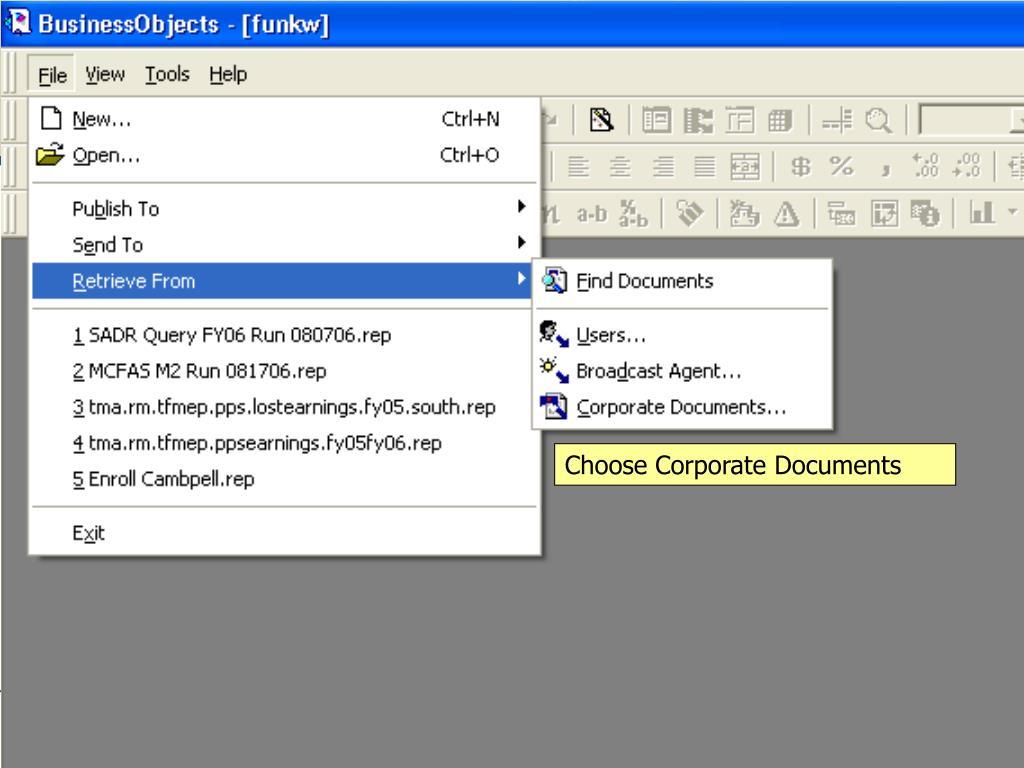 Choose Corporate Documents