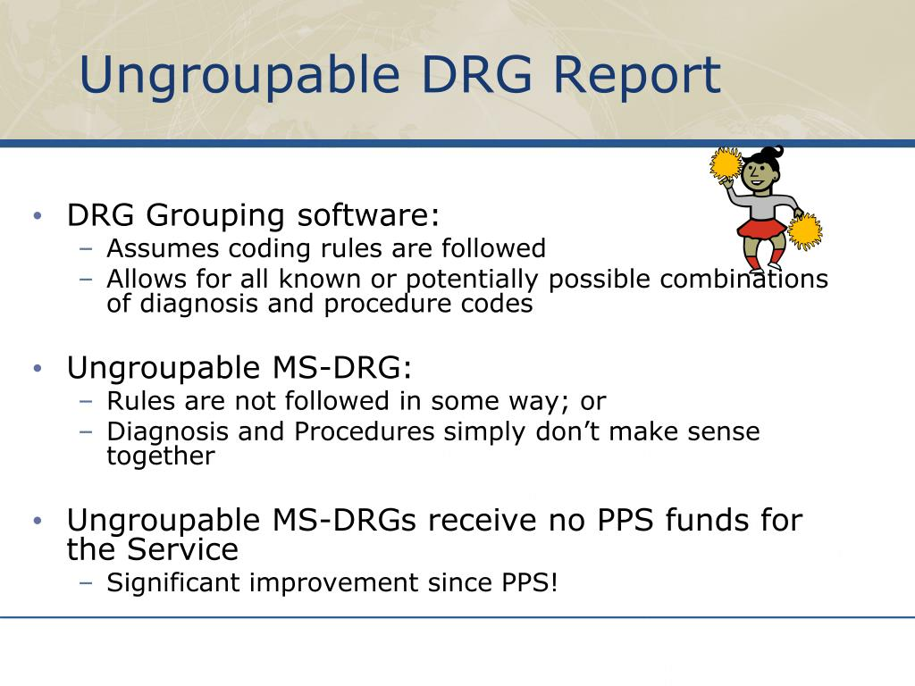 Ungroupable DRG Report