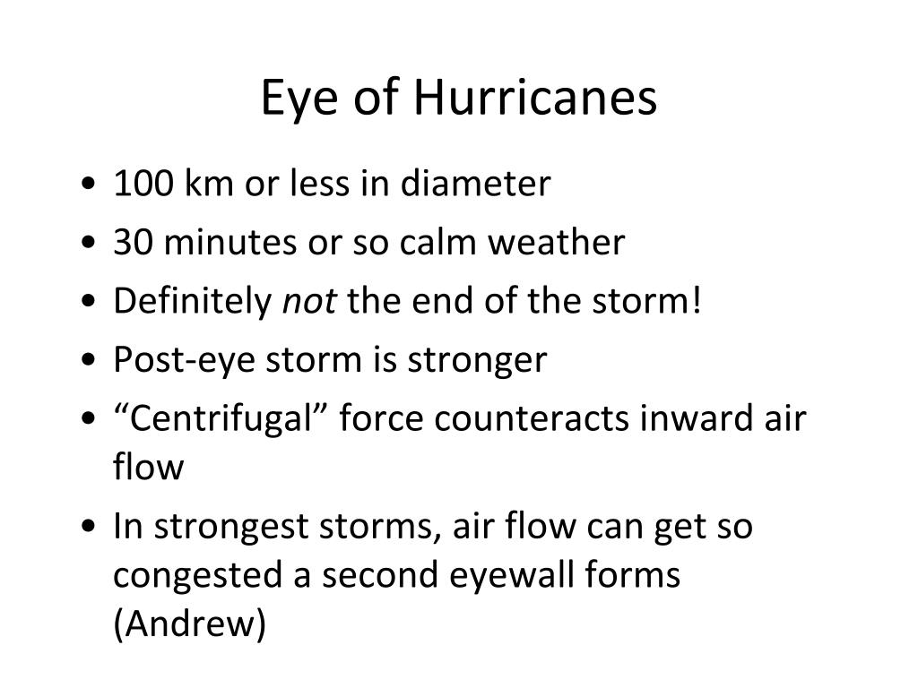 Eye of Hurricanes