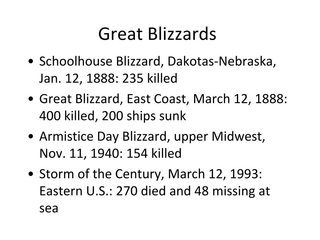 Great Blizzards