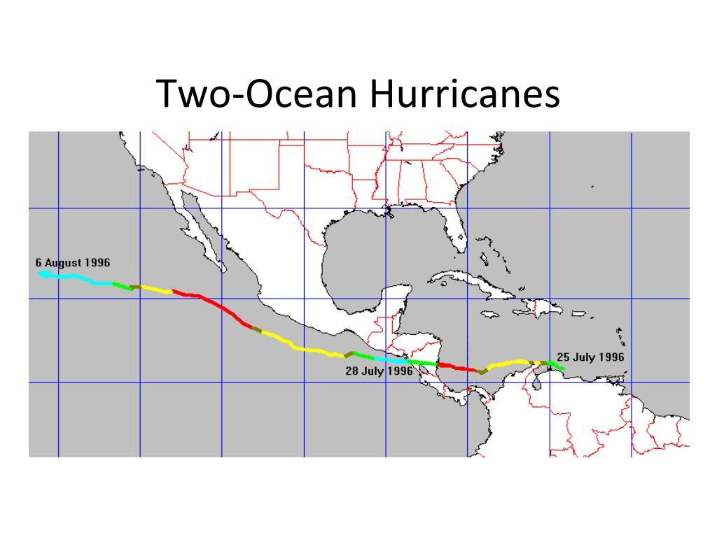 Two-Ocean Hurricanes