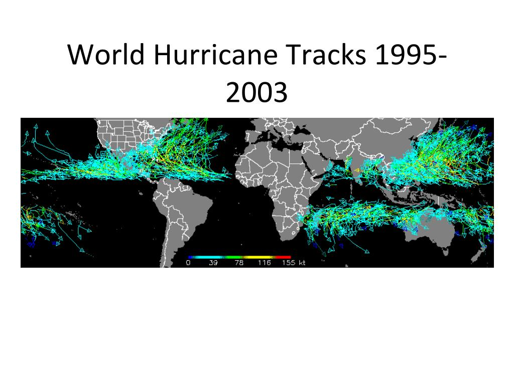 World Hurricane Tracks 1995-2003
