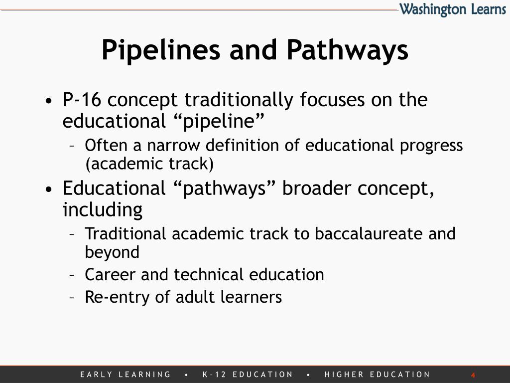 Pipelines and Pathways