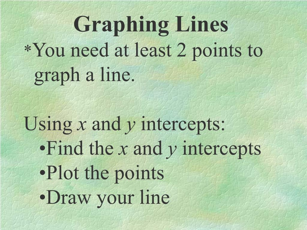 Graphing Lines