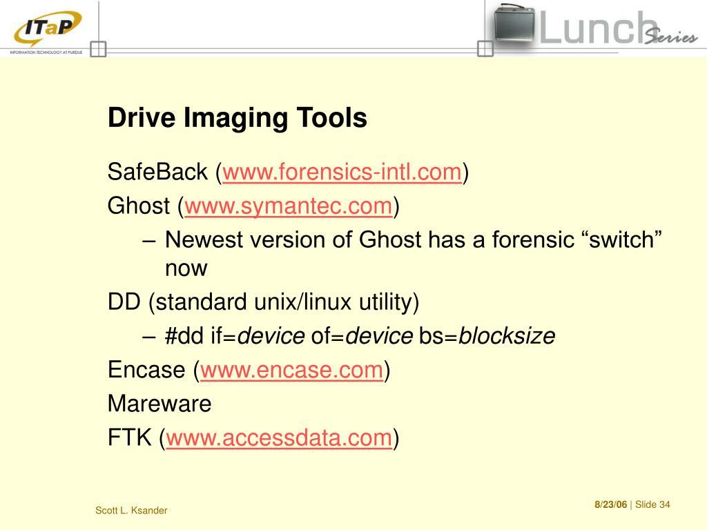 Drive Imaging Tools