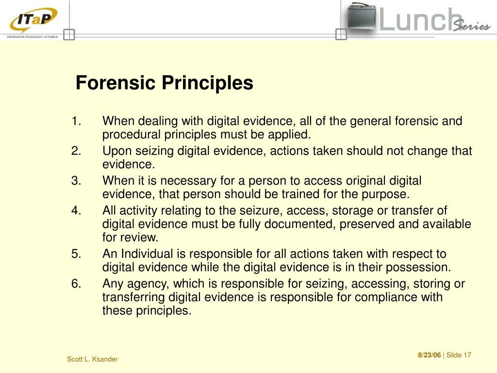 Forensic Principles