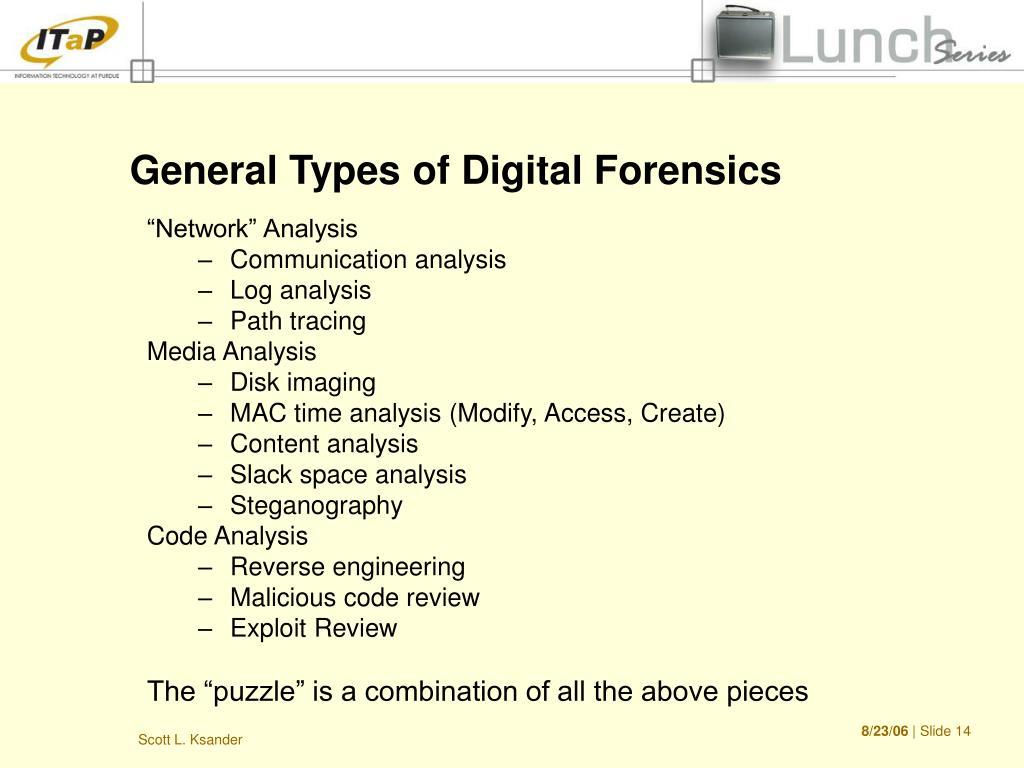 General Types of Digital Forensics
